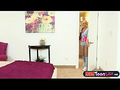 Step mom works hot teens pussy with her mouth a...