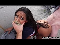 Busty babe Priya Price pounded in public