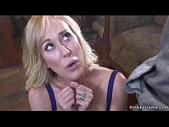 Awarded big tits blonde Milf Brandi Love tied up in her home and fucked