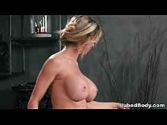 Busty client enjoys her first Thai massage # Na...