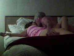 Lucky old dude fucks hot MILF
