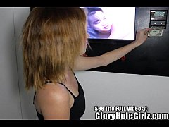 Red Head Shorty Ravaged in a Glory Hole!