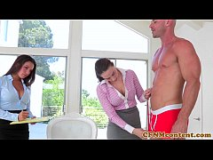 CFNM babe Shae Summers fucks in threeway