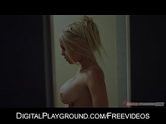 Big-tit blonde seduces her man fresh out of the...