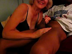 Mature Blonde can't get enough of black cock