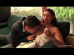 First porn casting of a Colombian amateur couple that shows up at a young audition