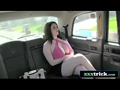 Curvy British Slut With Huge Tits vs Cabbie's Big Cock