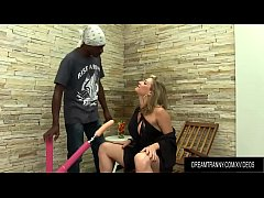 Horny Tranny Luana Pacheco Is Fucked Up the Ass by a Black Guy