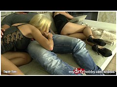 Blond Teen is horny for everything!
