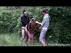 Kitty Jane outdoor with two guys