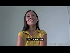 Casting HD Beautiful young amateur takes first time creampie