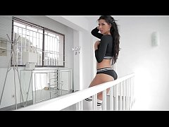 In her summer house, very horny gets her ass fucked