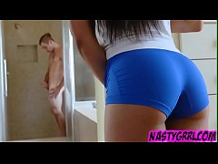 Ebony fit chic Karissa Kane get doggy creampie