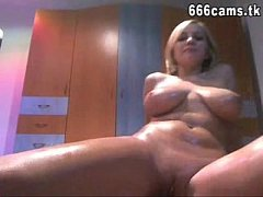 Busty girl playing on webcam - 666cams.tk
