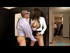Horny guy whacking off in office