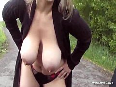 German milf fucked outdoors