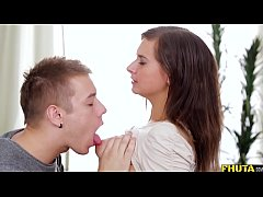Teen Vica Roughed up the ass