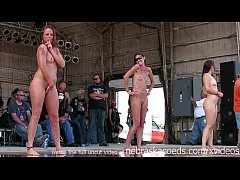 gorgeous biker chicks getting fully nude in iow...