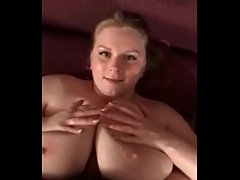 Digging His Shaft Between her Huge BBW Boobs - POV