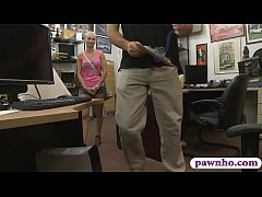 Small breasts blondie nailed by pawn guy