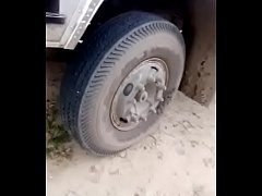 North Indian lorry in highway sex
