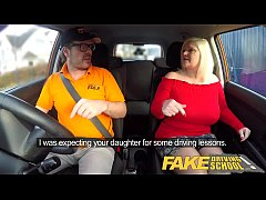 Fake Driving School Busty mature MILF sucks and...