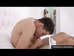 Two horny teens on one lucky guy