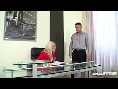 Anal Threesome At The Office