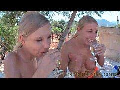hot group lesbian sex young girls kissing and f...