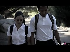 Schoolgirl with a black boyfriend and a jealous brother