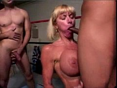 Tempting tranny receives load of ball batter