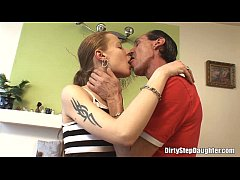 Punk Stepdaughter Fuck By Her Tattooed Stepfather