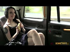 Naughty Alessa gets her pussy hammered inside the cab