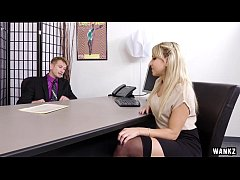 Secretary gets dominated by her boss