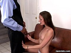 Haley Young Tastes A Black Dong