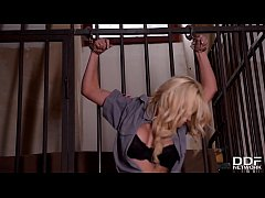Busty inmate Sienna Day gets her asshole filled with big black dong in fetish porn