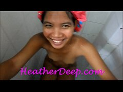 Heather Deep 1st Shower deep throat cum swallow trailer