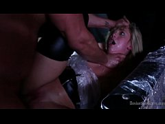 AJ Applegate bound with plastic wrap and fucked hard