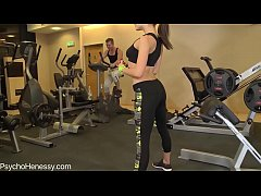 Ass fucked in the gym