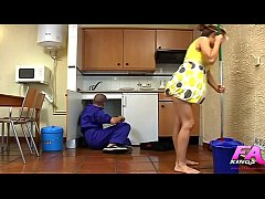 Noa is so horny that she will record herself banging a dirty plumber