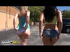 BANGBROS - Big Booty Babes Abella Anderson and Briella Bounce In Steamy AssParade Threesome, Fuck Yeah