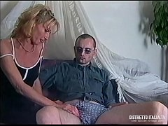 Italian exhibitionist couple with him by big and gnarled dick and she big bitch eager to take the cock in all holes