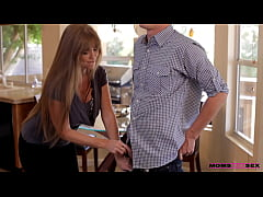 MILF White Mom teaches sex step son and his Lat...