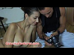 Horny photographer licking her sweet pussy