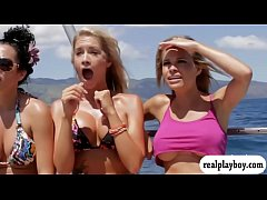 Badass babes swam in shark cage and snowboardin...