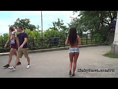Two best Hungarian hotties disgraced by two guys in public