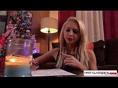 Alix Lynx loves Christmas eve, she writes to Santa asking for a huge fat real cock to have fun with