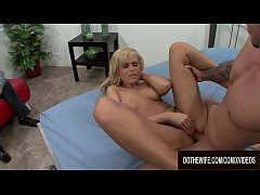 Stranger Screws Blonde Wife Darcy Tyler While H...