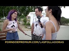 LAS FOLLADORAS - Cum in mouth for stunning young girl