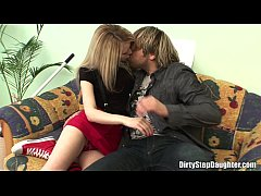Pretty Blonde Stepdaughter Fucks Stepdad In The...
